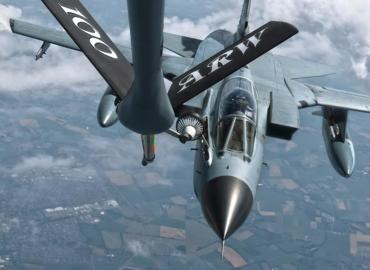 Flying with the 100th ARW refueling Luftwaffe Tornados