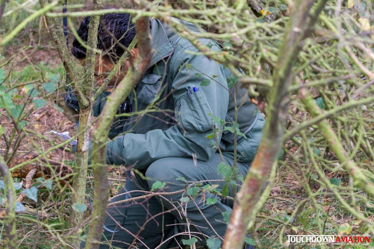 Another scenario took place at the Arnhemse heath, here you see the downed pilot making radio contact
