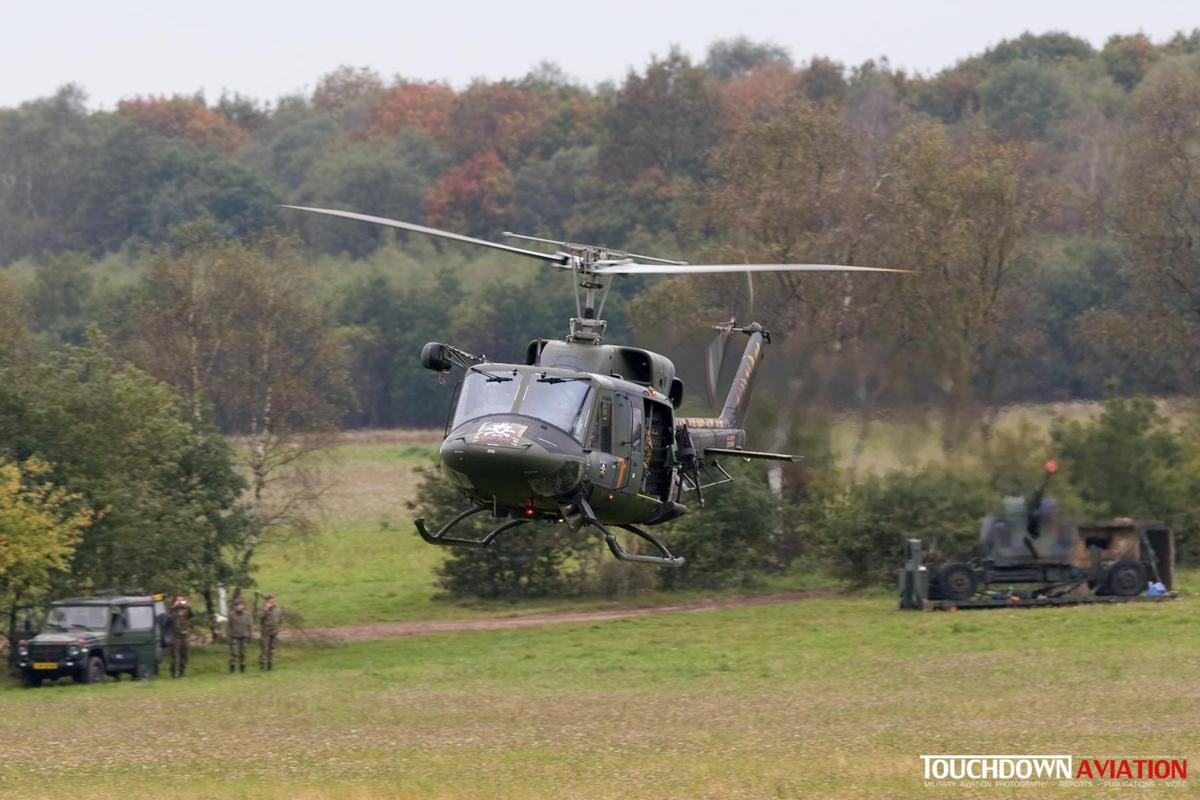 Meanwhile the Italian Bell212 secures the area