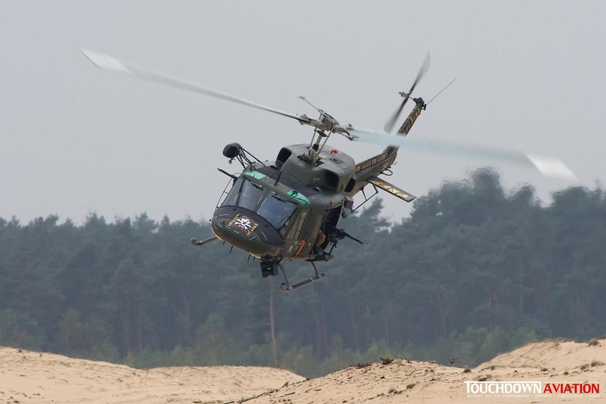 A small scenario was flown at the Beekhuizerzand area