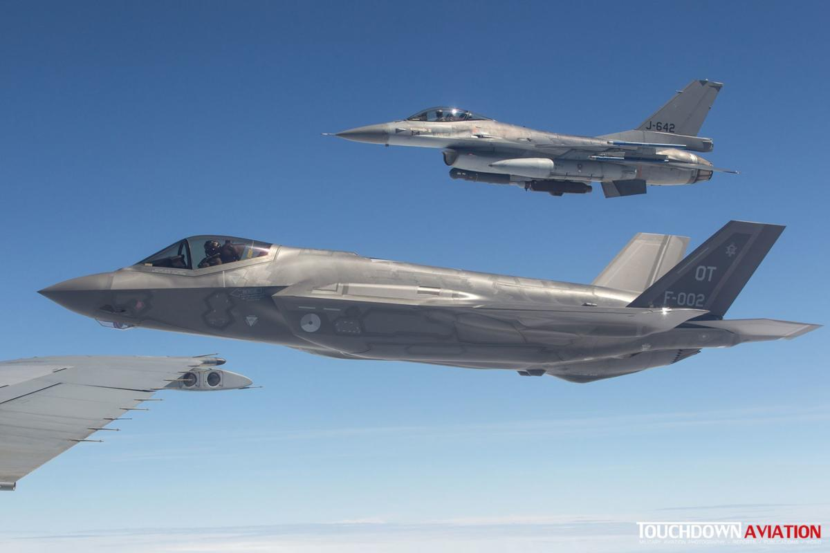 Old vs new; the F-35 will enter service with the RNLAF in 2019
